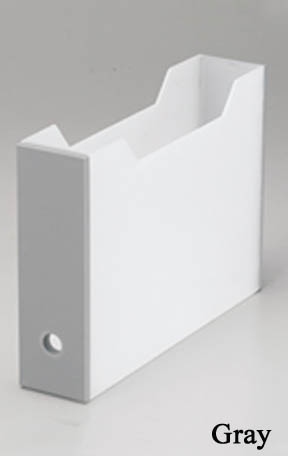 ファイルボックススリムグレー